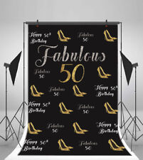 Happy 50th Birthday 5x7ft Photography Background Decor Party Photo Backdrop Prop