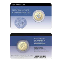 Australia 2019 National Police Remembrance $2 Two Dollars AlBr UNC Coin Carded