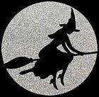 Halloween Witch On Broom Shirt, Glitter T-Shirt, Sexy Halloween, Ladies, Sm - 5X