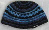 Kippah Black & Blue Kippa Knit Yamaka Kippot Frik Kippot Judaica Yarmulke 21cm