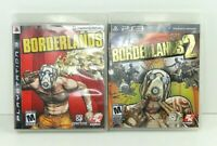 PS3 Borderlands 1&(2 Game of the Year Edition) (PlayStation 3) Complete Lot