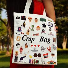 TV Series FRIENDS Cartoon Canvas Shopping Bag Handbag Shoulder Tote Satchel New
