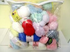 ~BABY YARN - 3/4/8ply - APPROX 2.3kg - MIXED COLOURS/BRANDS - 100% ACRYLIC~