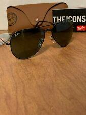 Ray-Ban Aviator Sunglasses RB3025 L2823 58mm Black Frame/G-15 Green Lens
