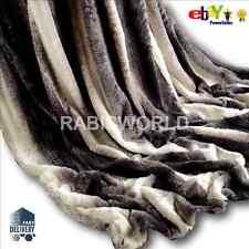 Carbón imitación piel de conejo TIRO Super Suave Felpa Manta cama cálida 150 X 200cm
