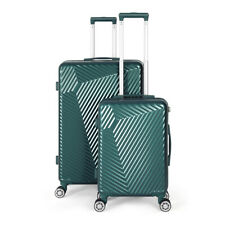 Green Luggage Sets 2 Piece Travel Spinner Suitcase Lightweight ABS 20