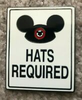 ULTRA RARE Artist Proof AP Hats Required Pin Mickey DLR WDW Attraction Sign