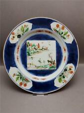 ANTIQUE 18TH CENTURY CHINESE KANGXI PERIOD POWDER BLUE PLATE (1662-1722)