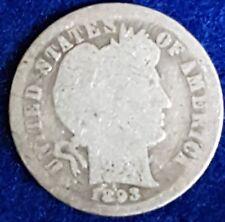 1893 Silver Barber Dime  ID #99-30
