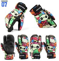 Nice Face Warm Gloves Unisex Adults 3-Finger Fall Line Adapt Winter Autumn