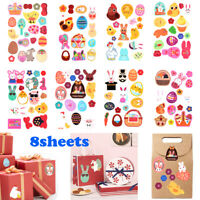 Biscuit Sealing Craft Happy Easter Gift Paper Sticker Seal Label Easter eggs