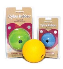 Rosewood Cyber Rubber Treat Ball Large Dog Toy | Activity Chew Bouncy Flexible