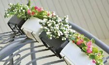Blumenkasten Rattan Optik Balkonkasten Blumenkübel Pflanzkasten rechteckig