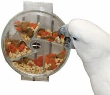 Foraging Wheel Bird Feeder Parrot Macaws Toy Durable Easy Clean, 6-Inch Diameter