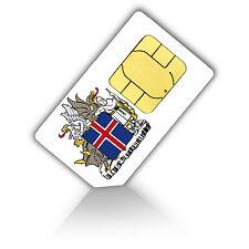 SIM Karte für Island mit 1GB mobiles Internet Standard/Micro + 200 Min