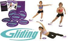 Gliding Disc Bodengleiter Gleitscheiben Core Sliders Fitness Training PO Beine