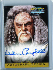 "William Campbell ""Koloth"" Star Trek Ds9 & Tos Auto Signed Card Nm-Mt Condition"