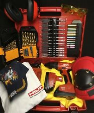 HILTI SF 121-A CORDLESS DRILL SET, PREOWNED, FREE BITS, T-SHIRT, HAT, EXTRAS