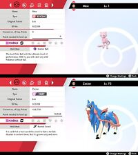 Mew and Zacian PACK - 6IV - Best nature - Pokemon Sword / Shield