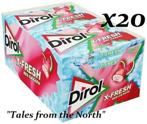 "Dirol X-Fresh ""Watermelon Ice"" sugar free chewing gum, 20 pcs x 16 g (0.56 oz)"