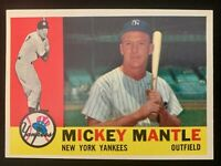 1960 Topps Mickey Mantle #350 High-Grade Nice Color, Centering, Bright White