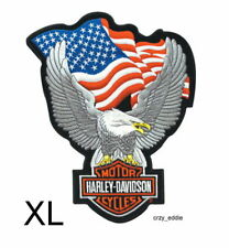 New listing Harley Davidson® UpWing Eagle with Usa Flag Embroidered Vest Patch Discontinued