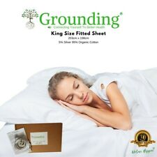 Earthing Grounding King Fitted Bed Sheet