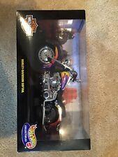 Hot Wheels Harley-Davidson Softail 1:10 Purple Flames