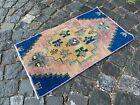 Vintage from 1950s, %100 wool handmade Turkish vintage rug   1,5 x 2,4 ft