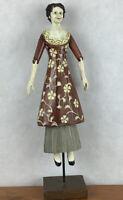 Foreside Folkart Wooden Woman Statue Folk art