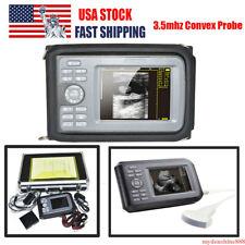 Portable Handheld Human Ultrasound Scanner Machine 35mhz Convex Probe Case