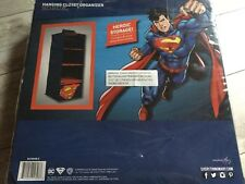 New Super Man Hanging Closet Organizer 4 Compartments Kid Closet