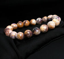 Crystal Beads Bracelet 9.9mm Natural violet Quartz