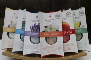 """Luminara 7"""" Fragrance Diffusing Flameless Pillar Candle or Scent Refills U PICK"""
