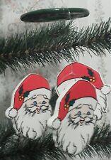 Santa Christmas Ornament * Miniature Windchime * Russ Berrie * Mobile * IOB