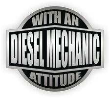 Diesel Mechanic With An Attitude Toolbox Decal / Tool Box Sticker Vinyl Label