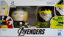 "THOR & LOKI The Avengers Movie Mini Muggs 3"" inch Vinyl Figures 2-pack 2012"