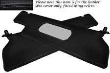 GREY STITCH FITS RENAULT ALPINE GTA V6 2X SUN VISORS LEATHER COVERS ONLY