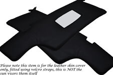 BLACK STITCH FITS PORSCHE 911 912  2X SUN VISORS LEATHER COVERS ONLY