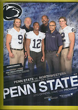Oct.6,2012 Penn State vs Northwestern Mt Program + Free Ticket Stub For 1st sale