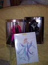 Lot of Barbies:Barbie  Cruella De Vil, Starlight Dancer and Happy Holidays 1998