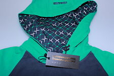 Golf Junkie Trendy Funky Mod Emerald/Navy Blue Golf Casual Hoodie Sweatshirt Lge