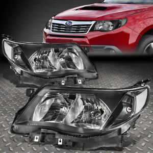 FOR 09-13 SUBARU FORESTER BLACK HOUSING CLEAR CORNER HEADLIGHT REPLACEMENT LAMP