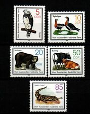 Germany DDR 1985 Sc# 2481-2485 Mint MNH birds eagle goose bear crocodile stamps