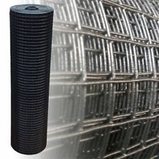Maschendraht schwarz 1m x 25m 25x25mm 1.45mm Volierendraht 4-Eck Gartenzaun