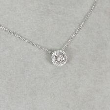 Wert 1190 € Brillant Diamant Anhänger Kette (0,20 Carat) in 750er 18 K Weißgold