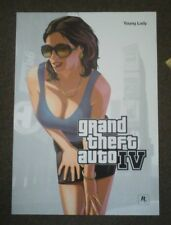 GTA 4 IV Grand Theft Auto very rare double sided promo Poster 84x59cm