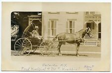 RPPC NY Delevan Dr F Krehiel and Fred Krebiel In Carriage Cattaraugus County