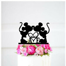 Disney wedding cake topper   Mickey & Minnie Custom Wedding Cake Topper