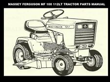 Massey Ferguson 100 112 Tractor Parts Manuals 115pg for Tractor Service & Repair